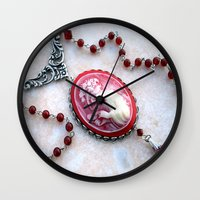 agate Wall Clocks featuring agate,agate cameo,gemstone by ira gora