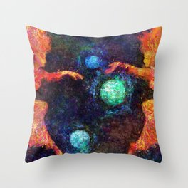 Phantasy Star II Title Screen Impressionist Painting Throw Pillow