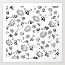 Caracoles Art Print