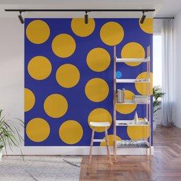 yellow dots Wall Mural