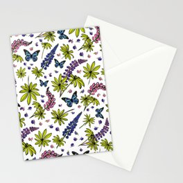 Blooming lupines Stationery Cards