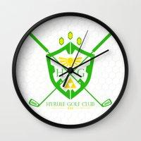hyrule Wall Clocks featuring Hyrule Golf by reyrol