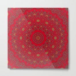 Christmas Cheer Mandala Metal Print