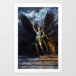 Archangel Expulsion Art Print