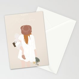 Mother and baby Stationery Cards