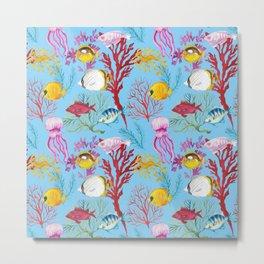 Coral Reef - All Together Water Metal Print