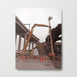 Destroying a viaduct Metal Print