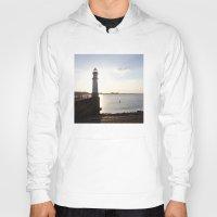 edinburgh Hoodies featuring Leith Lighthouse Edinburgh by RMK Creative