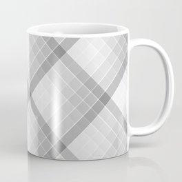 Gray Geometric Squares Diagonal Check Tablecloth Coffee Mug