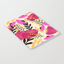 Vibrant Floral Wallpaper Notebook