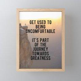 Motivational - Journey Towards Greatness Quote Framed Mini Art Print