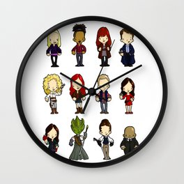 Doctors Companions and friends Wall Clock
