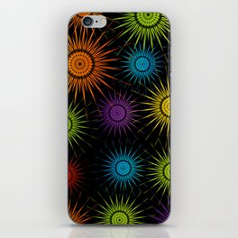 Colorful Christmas snowflakes pattern- holiday season gifts iPhone Skin