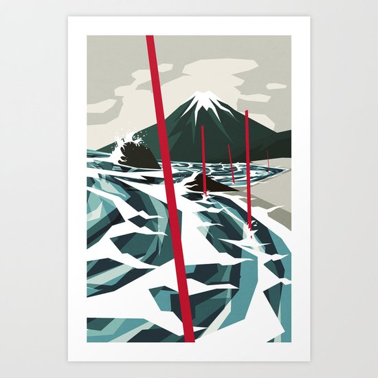 Breaking the Waves II Art Print