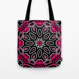 Pink Black Geometric Pattern Tote Bag