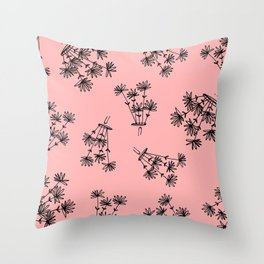 pink flower eaters Throw Pillow
