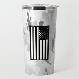 Arctic Camouflage: Black Flag Travel Mug
