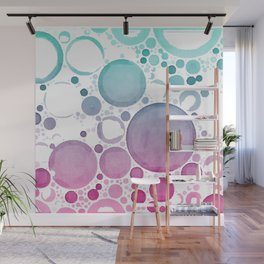 Watercolour Bubbles Wall Mural