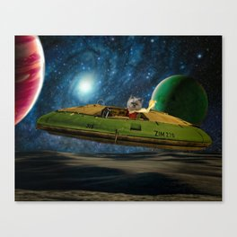 Space Cat Zim - Protector of the Galaxies! Canvas Print