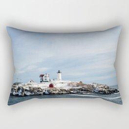 Nubble Lighthouse Maine Rectangular Pillow