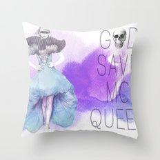 God Save McQueen Throw Pillow