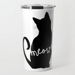 Meow - Cat Silhouette Travel Mug