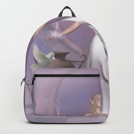 Wonderful fairy with dove Backpack