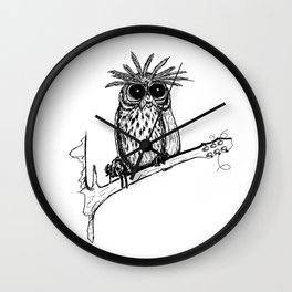 Metal Owl Wall Clock