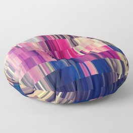 Abstract summer bright square pattern Floor Pillow