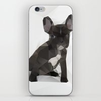 french bulldog iPhone & iPod Skins featuring French Bulldog by Three of the Possessed