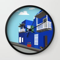 colombia Wall Clocks featuring Colombia  by Design4u Studio