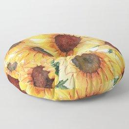 Sunflowers Bloom  Floor Pillow