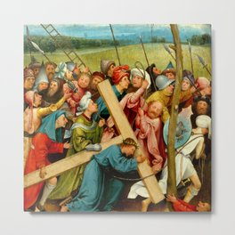 "Hieronymus Bosch ""Christ Carrying the Cross"" (Vienna) Metal Print"