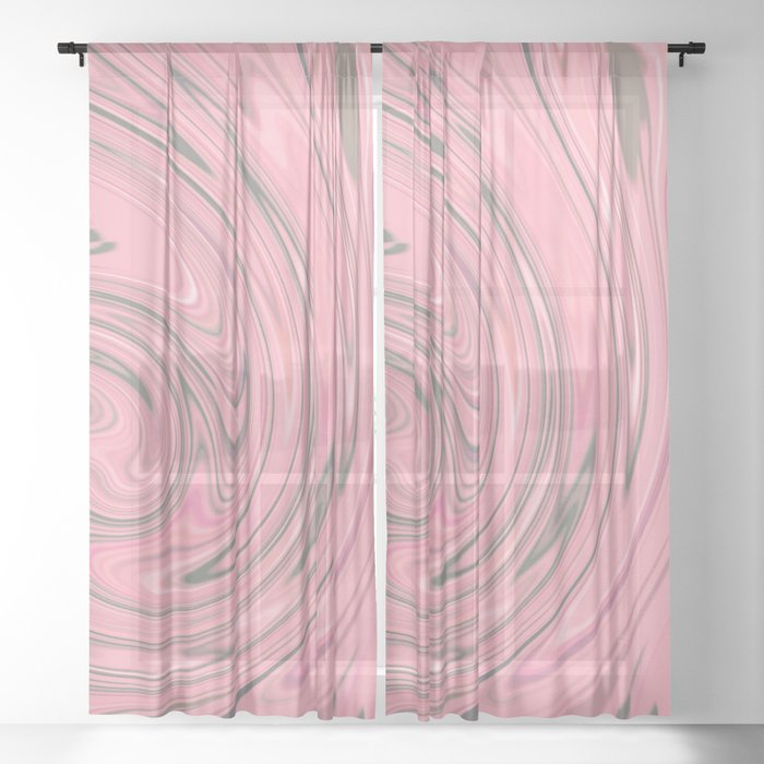 Pink Fancy Sheer Curtain By Marinosha