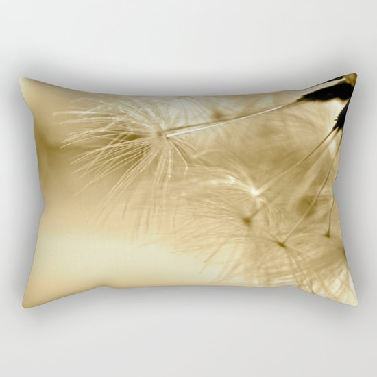 Diana's Dandelion Sepia Rectangular Pillow