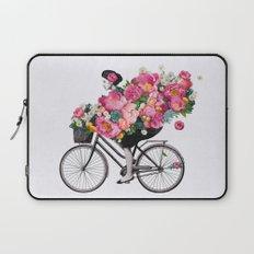 floral bicycle  Laptop Sleeve