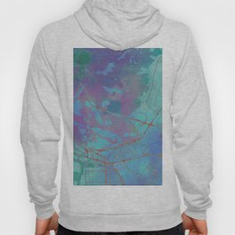 Abu Dhabi Street Map Art Watercolor Blue Lagoon Hoody