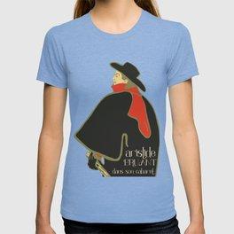 Bruant in his cabaret retro vintage T-shirt