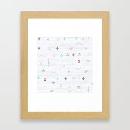 Cactus Silk Pattern in White and Pink Framed Art Print