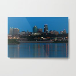 KC Sunset from the River Metal Print