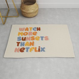 Watch more sunsets Rug