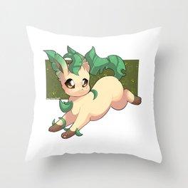 Leafeon Throw Pillow