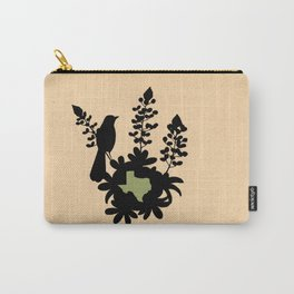 Texas - State Papercut Print Carry-All Pouch