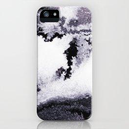 titanium white / carbon black / silver iPhone Case