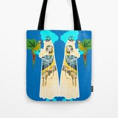 Bird Coat Blue Tote Bag