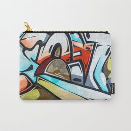 Graffiti blue cyan woman abstract impressionist street art colorful red gray yellow spraypaint urban Carry-All Pouch