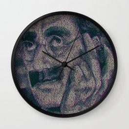 Groucho Marx - Duck Soup Screenplay Print Wall Clock