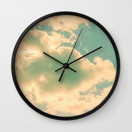 Sunlit Clouds Wall Clock