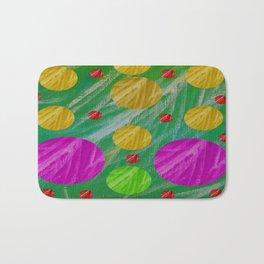 Dots and acrylpaint pattern Bath Mat