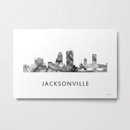 Jacksonville, Florida skyline WB BW Metal Print